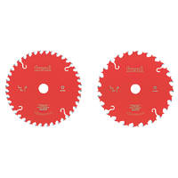 Freud Pro TCT Circular Saw Blades Twin Pack 165mm x 20mm Bore