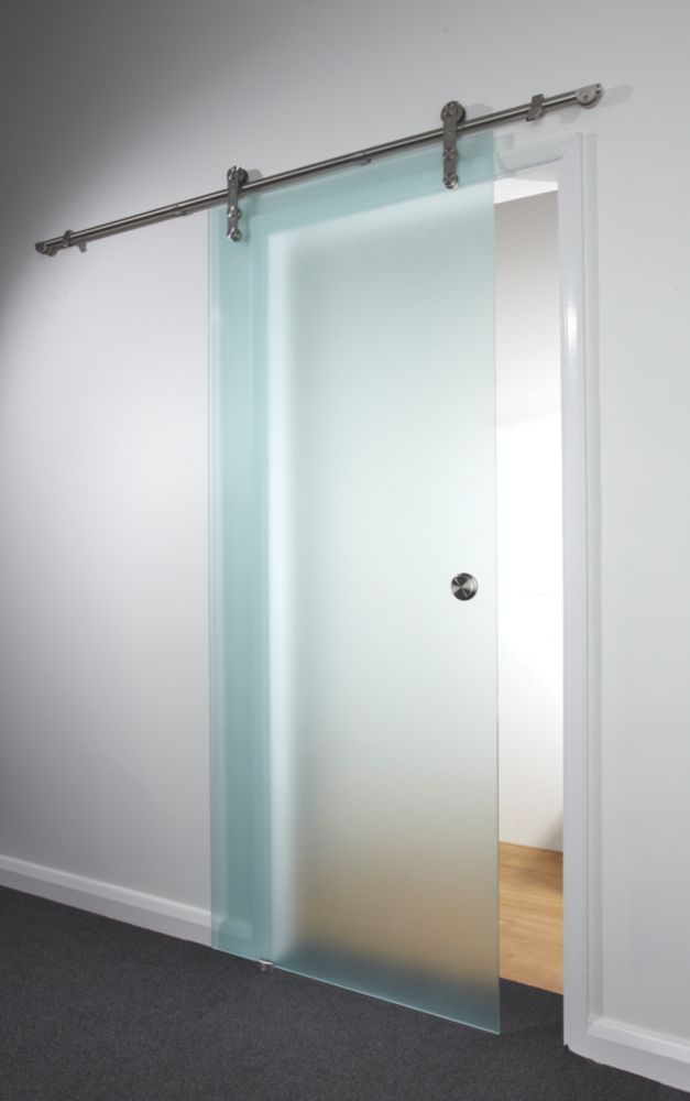 Spaceslide Sliding Door Kit Opaque Glass 840 x 2080mm