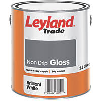Leyland Trade Non-Drip Gloss Paint Brilliant White 2.5Ltr