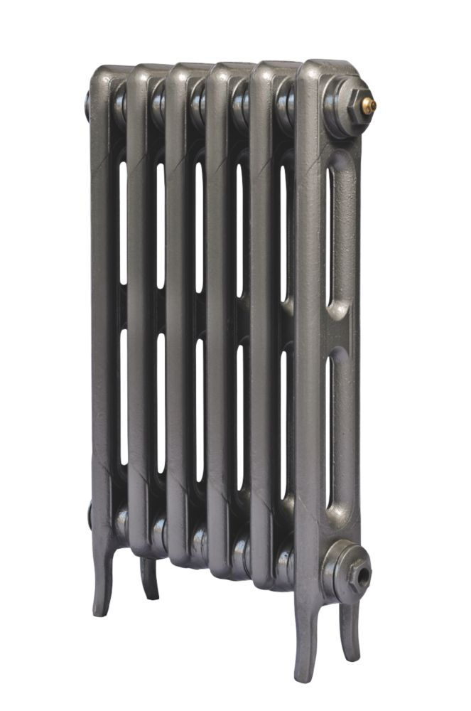 Cast Iron 660 Designer Radiator 2-Column Gun Metal Grey H: 660 x W: 397mm