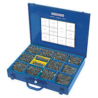 Silverscrew Woodscrews Expert Trade Case Double Countersunk 2800 Pcs