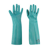 Ansell Solvex 37-185 Chemical-Resistant Gauntlets Green Medium