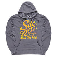 "Site Banner Hooded Sweatshirt Grey Marl Medium 40"" Chest"