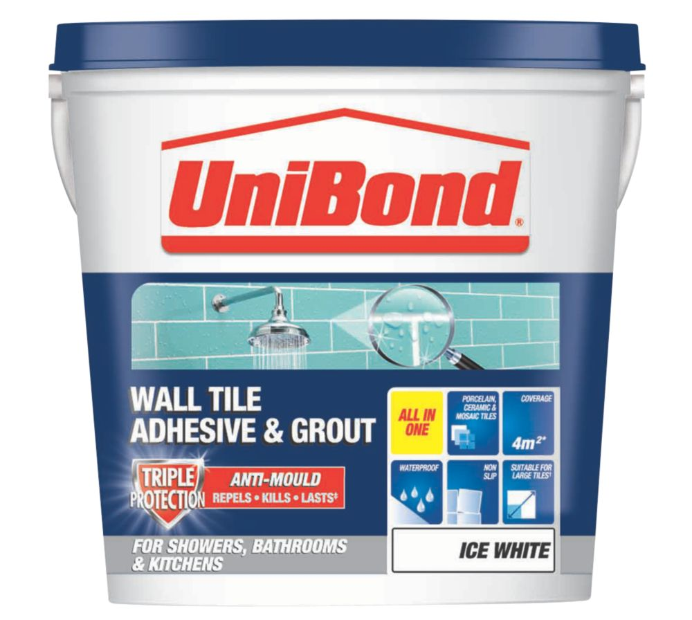 Unibond Triple Protection Anti-Mould Wall Tile Adhesive & Grout 5Ltr