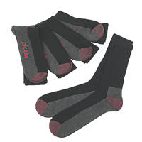 Dickies Cushion Crew Socks 5 Pairs Black Size 7-11 Black Size 7-11 5 Pack
