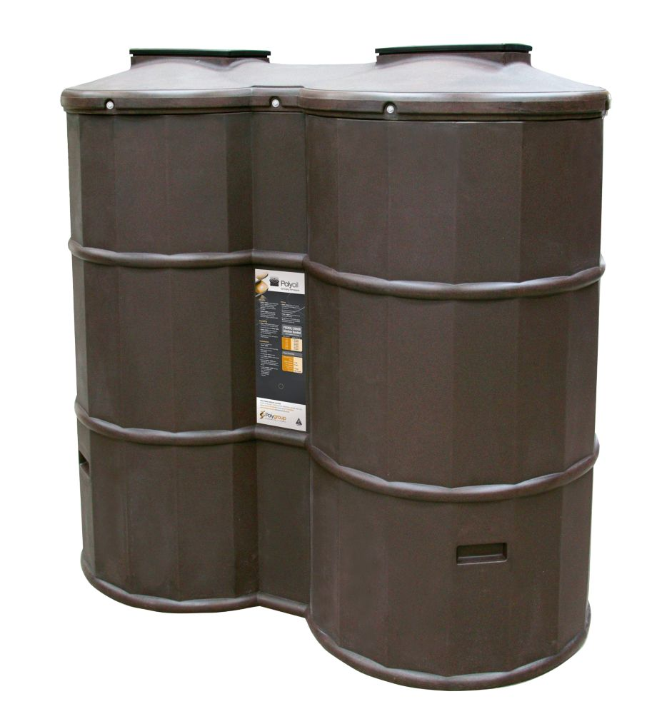 Poly Oil Tank Oak 1200Ltr