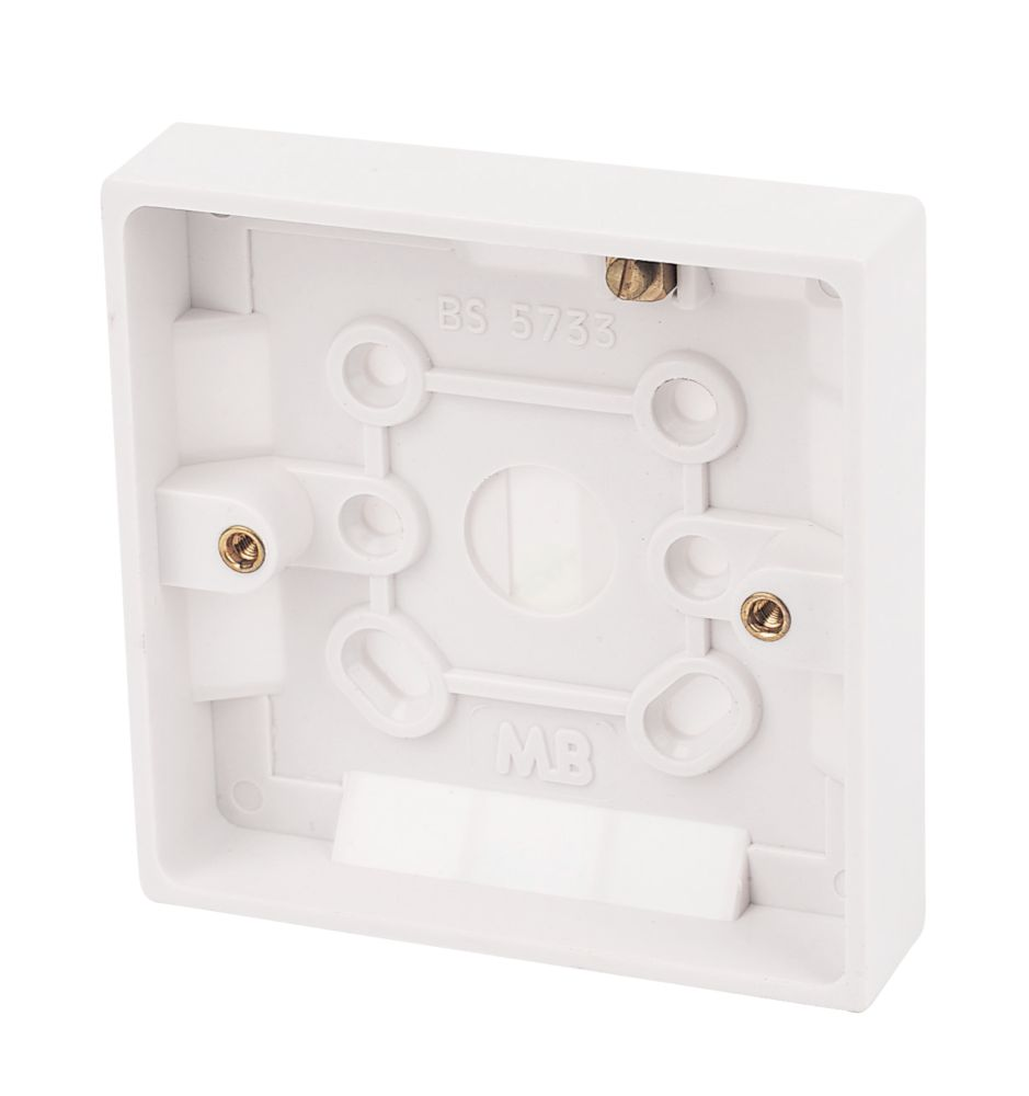 Marbo 1-Gang Surface Pattress Box White 25mm