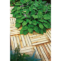 Forest Ridged Tile Decking Kit 0.5 x 0.5 x 0.03m 16 Pack