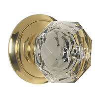 Carlisle Brass  Glass Mortice Knob Pack Polished Brass 65mm