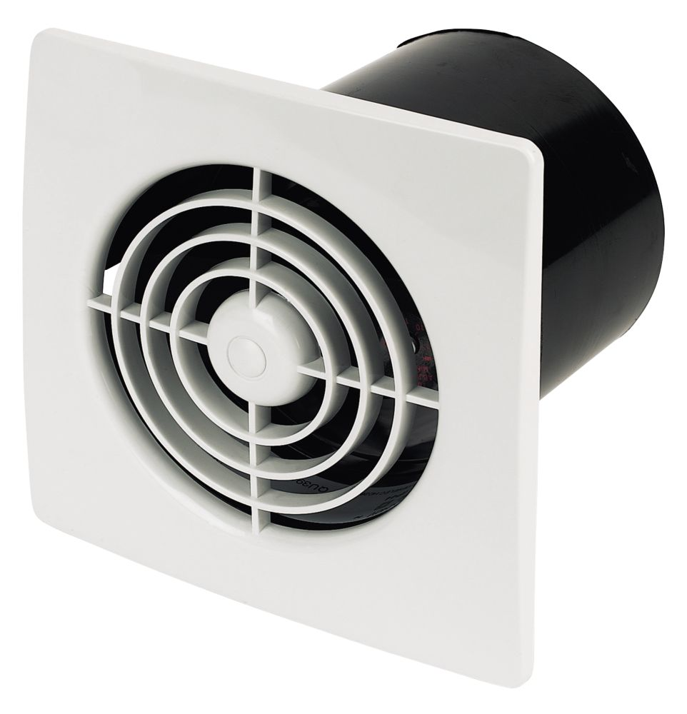 Manrose White In-Line 20W Extractor Fan