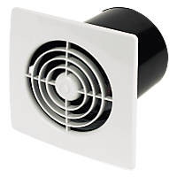 Manrose LP100SS 20W In-Line Bathroom Extractor Fan