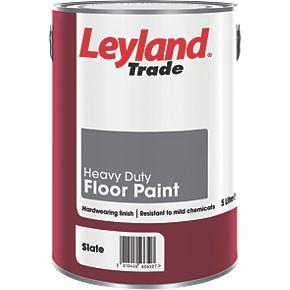Leyland Trade Heavy Duty Floor Paint Slate 5ltr Floor Paints