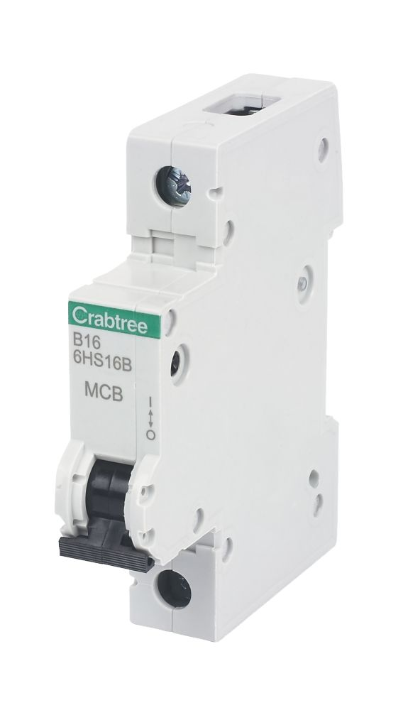 Crabtree 16A 1-Pole Type B Curve MCB