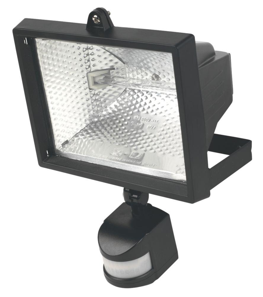 Floodlight 400W Black PIR Photocell