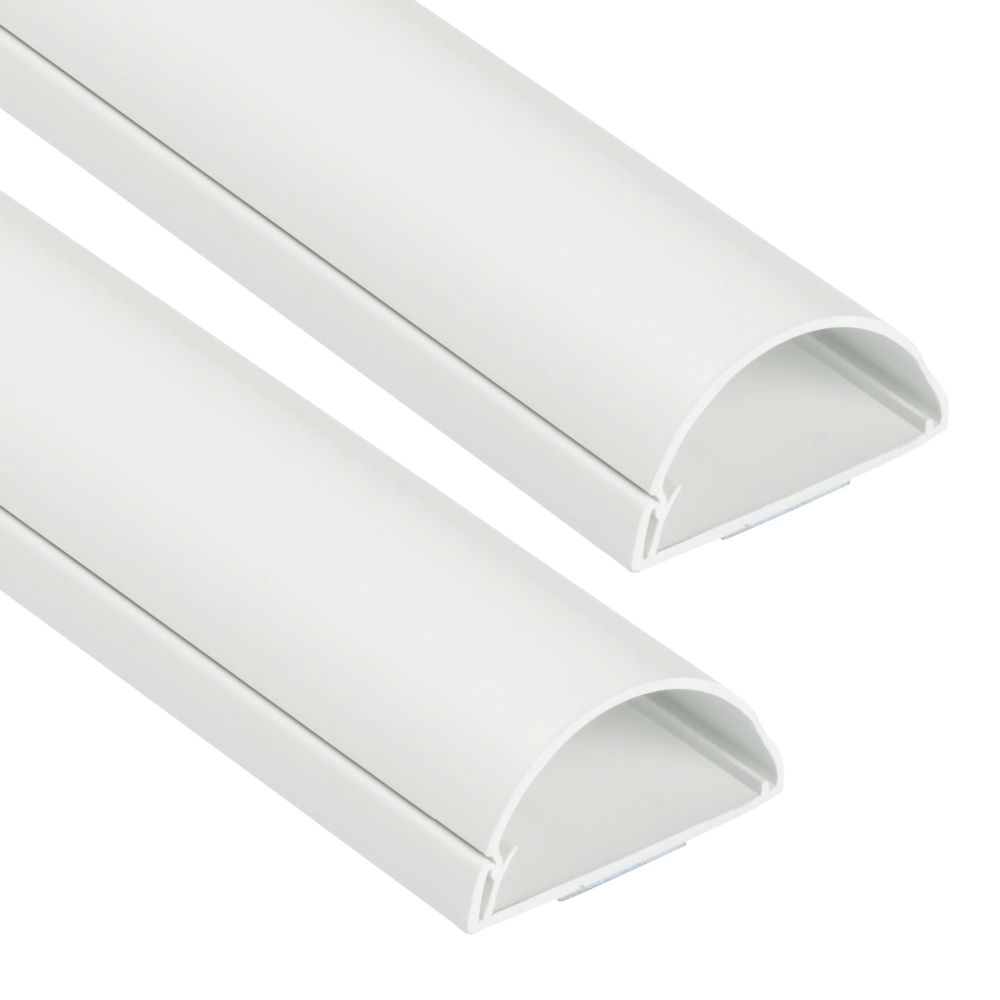 D-Line Wall Mounted Trunking White 50 x 25mm x 1.5m Pack of 2