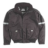 "Site Elm Pilot Jacket Black X Large 53-54"" Chest"