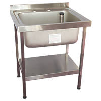 Franke Midi Catering Sink Stainless Steel 1-Bowl 750 x 650mm