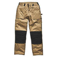 "Dickies Grafter Work Trousers Khaki / Black 38"" W 32"" L"
