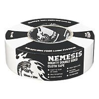 Nemesis Double-Sided Cloth Tape White 50mm x 50m