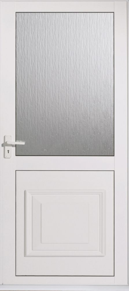 Cumbria White Double-Glazed Aluminium Back Door RH 762 x 1981mm