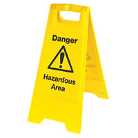 Danger Hazardous Area A-Frame Safety Sign 680 x 300mm