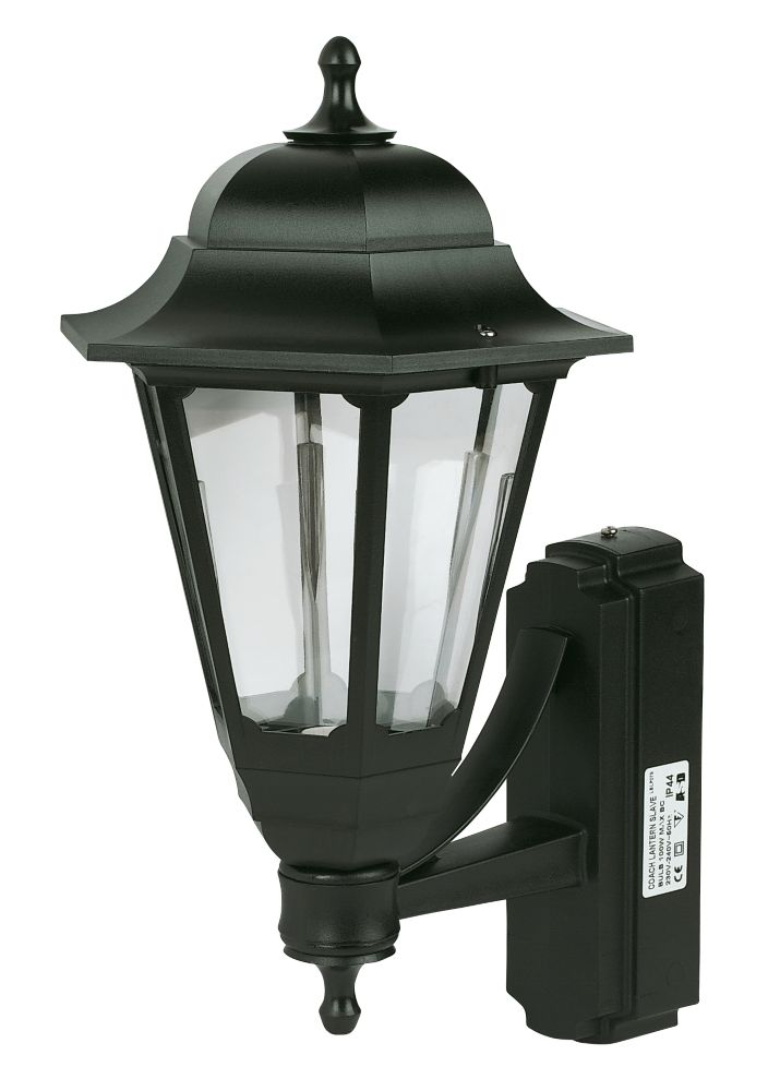 Screwfix Outdoor Wall Lights : ASD 100W Black Coach Lantern Wall Light Outdoor Wall Lights Screwfix.com