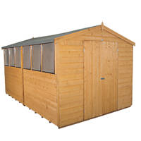 Forest 8' x 12' (Nominal) Apex Shiplap Timber Shed with Assembly