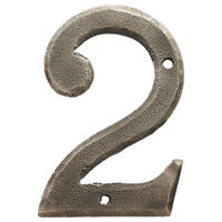 Carlisle Brass Ludlow Door Numeral 2 Pewter Effect