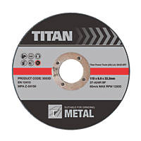 Titan Metal Grinding Discs 115 x 6 x 22.23mm 3 Pack