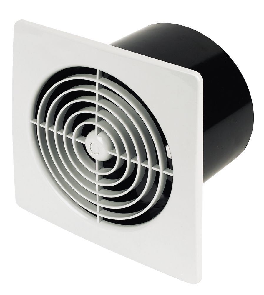 Manrose Axial 25W Kitchen Fan+Timer White