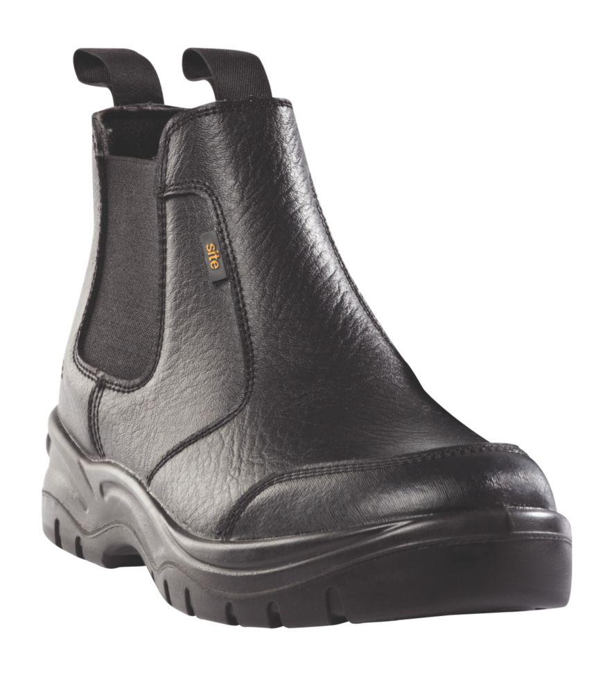 Site Scoria Chelsea Safety Boots Black Size 6