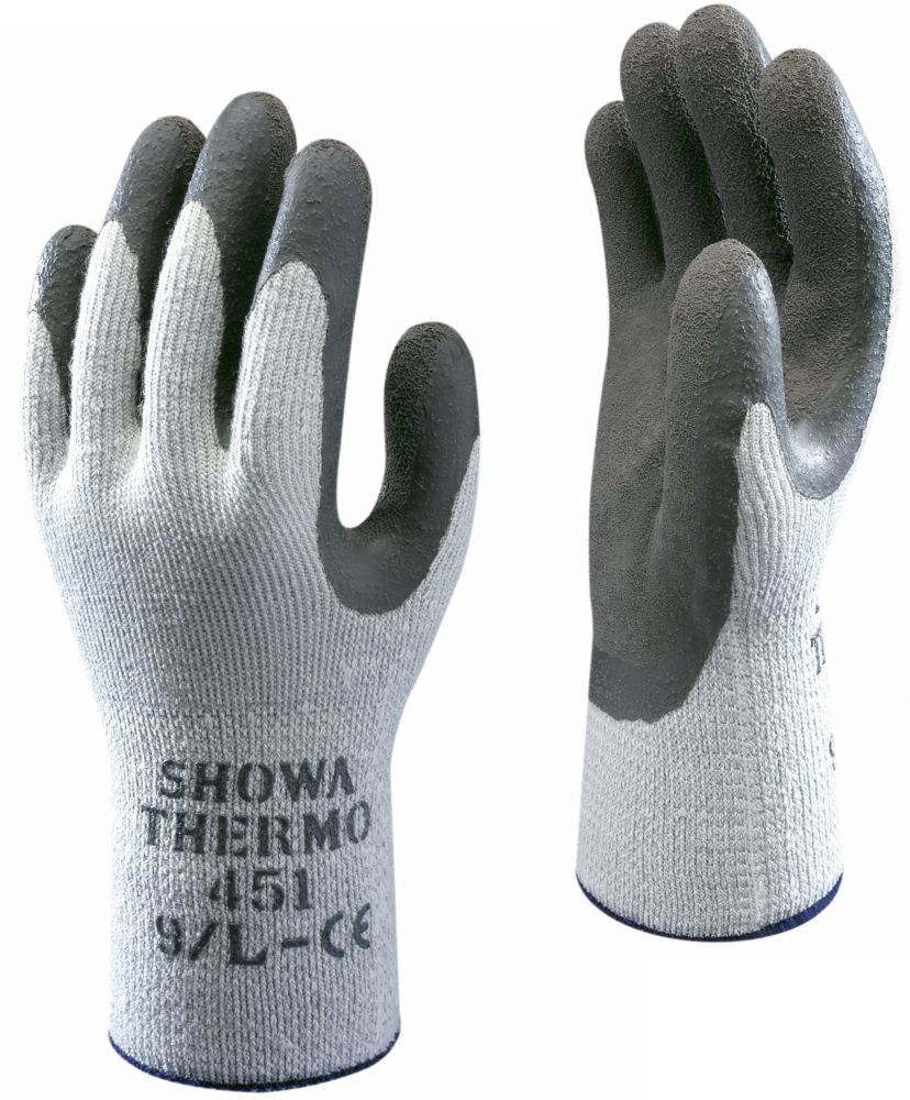 Showa Best 451 General Handling Thermal Grip Gloves White/Grey X Large