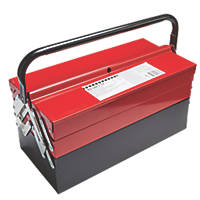 Metal Cantilever Tool Box 17""