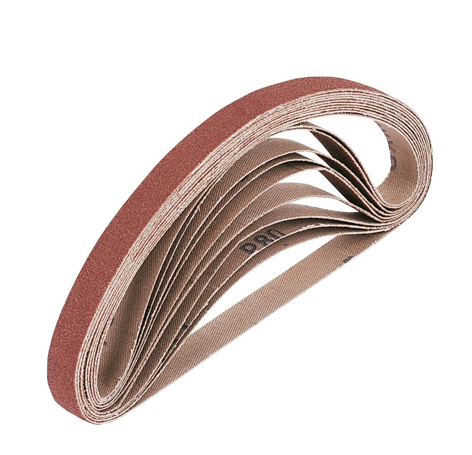Cloth Sanding Belts 13 x 457mm 60 Grit Pack of 10