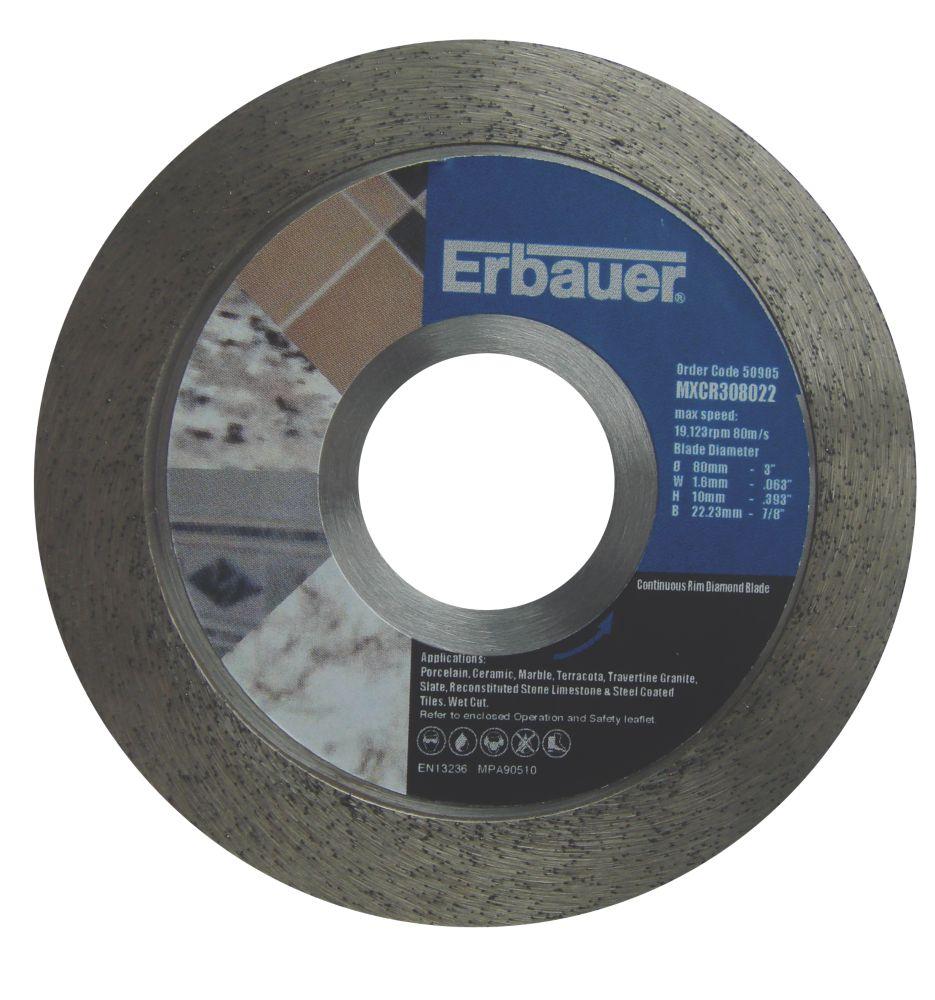 Erbauer Diamond Tile Blade 80mm