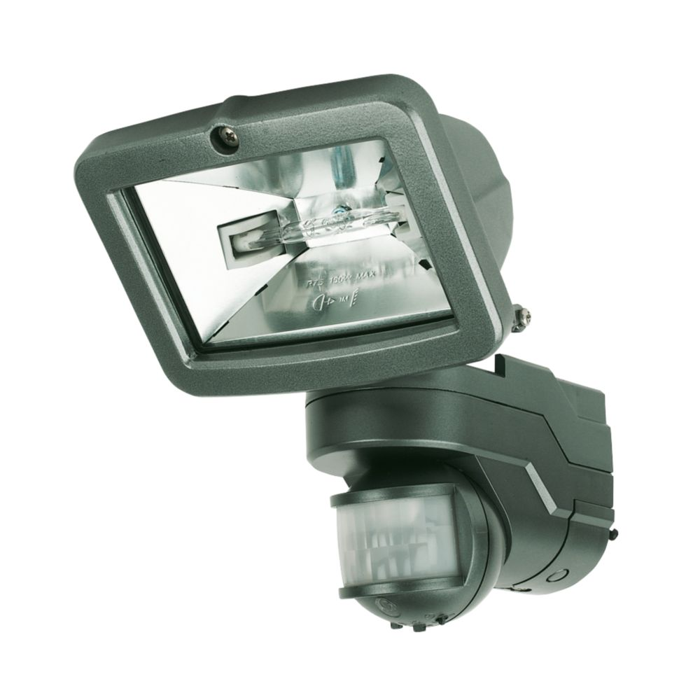 IQ Single Pyro Pro Symmetric PIR Sensor Floodlight Graphite 120W