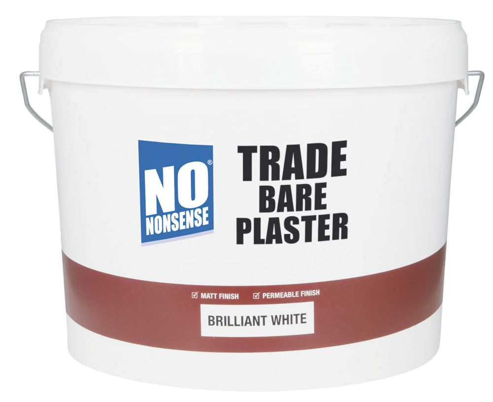 No Nonsense Trade Bare Plaster Paint White 10Ltr