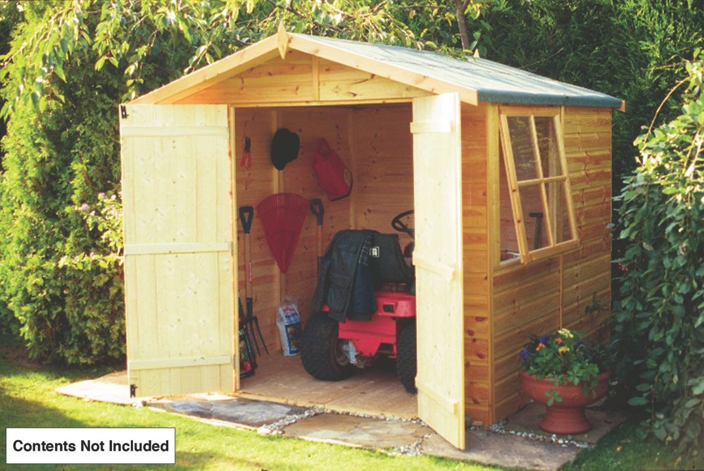 Shire Shiplap Double Door Apex Shed 7 x 7 x 7' (Nominal)