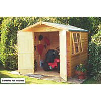 Shire 7' x 7' (Nominal) Apex Shiplap T&G Timber Shed