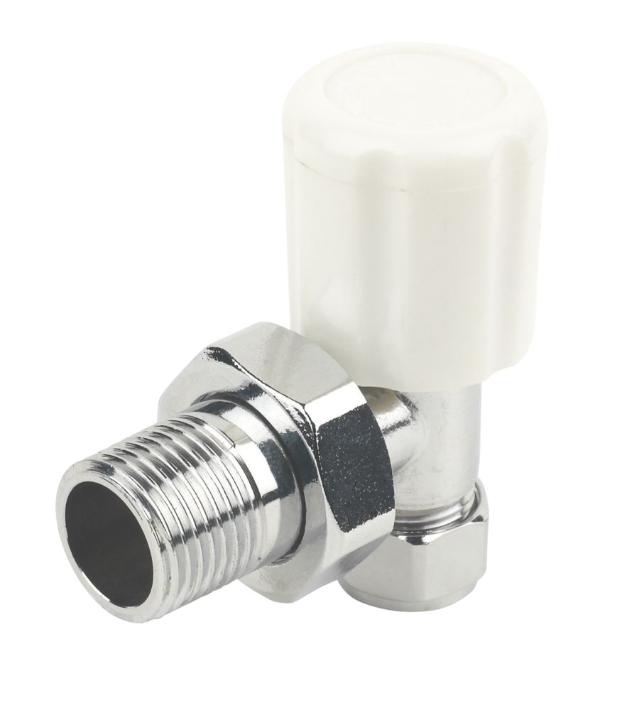 Angled Radiator Valve Chrome 10mm x ½""