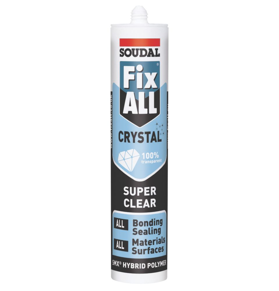 Fix All Seals & Bonds Crystal Sealant & Adhesive 290ml