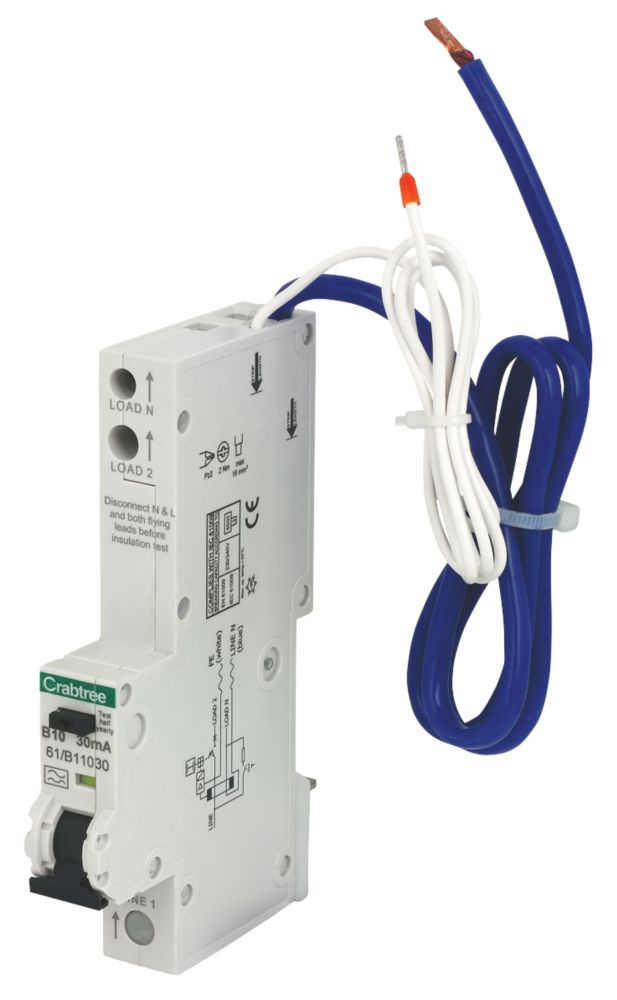 Crabtree 10A 30mA SP RCBO