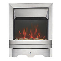 Focal Point Lulworth Stainless Steel Switch Control Inset Electric Fire
