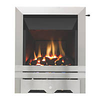 Focal Point Lulworth Stainless Steel Slide Control Inset Gas High Efficiency Fire