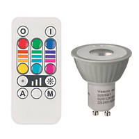 RGB & White LED Colour-Changing Lamp GU10 45lm 3.2W