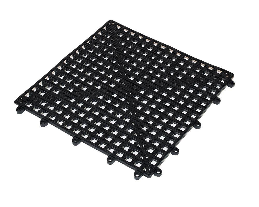 Flexi-Deck Tile Black 0.3M x 0.3M Pack of 9