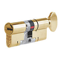 Yale Platinum 3-Star Euro Profile Cylinder 35-35 (70mm) Brass