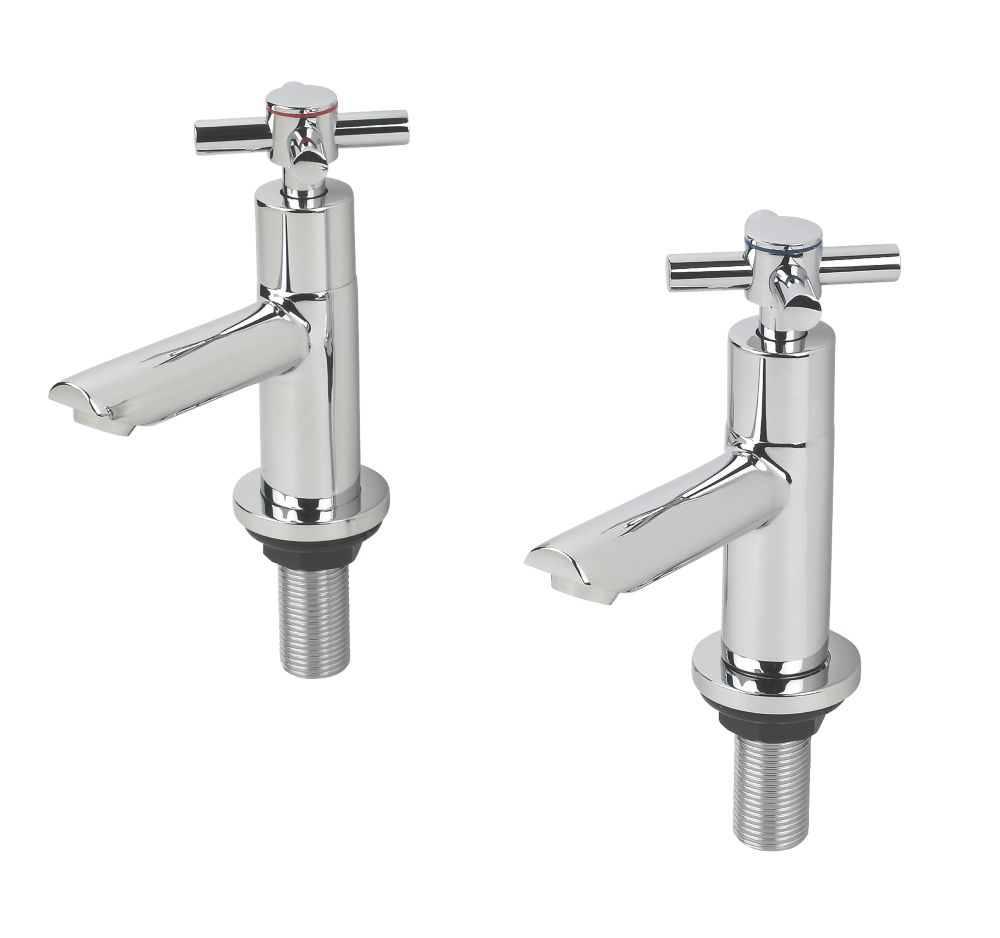Swirl Minimalist Bathroom Basin Taps Pair