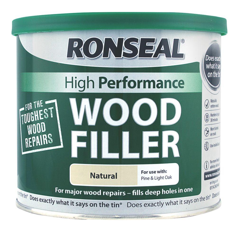 Ronseal High Performance Wood Filler Natural Colour 550g