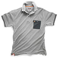 "Scruffs Worker Polo Shirt Grey XX Large 48-50"" Chest"